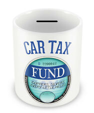 CAR TAX Fund Money Box PIGGY BANK Savings coin pot present christmas retro #76