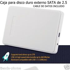 Caja para disco duro externo SATA de 2.5 + cable usb tornillos HASTA 2 TB