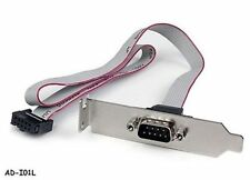 "1-Port 16"" DB9 Serial Low Profile Bracket to 10-Pin Motherboard Header Adapter"