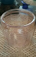 VINTAGE PINK DEPRESSION GLASS REPLACEMENT CANISTER FOR COOKIES OR TREATS