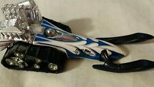 Hot Wheels 1995 Big Chill Snowmobile White with Silver and Blue stripes
