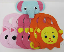 Baby Girls Bibs Wholesale Lot Pink blue orange Cute quantity 7 new Terry Cloth I