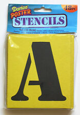 """Darice 4"""" POSTER STENCILS Alphabet Letter Number Punctuation TEMPLATE 48pc"""