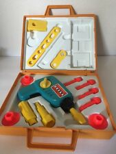 Vintage FISHER PRICE TOOL KIT #924. IN ORIGINAL CASE 1977 For Parts