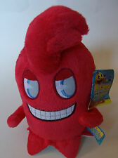 "PAC-MAN & the Ghostly Adventures 7"" RED Ghost soft Plush cuddly toy TEDDY Blinky"