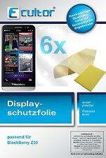6x Blackberry Z30 Protector de Pantalla protectores transparente
