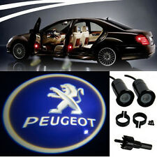2 X PEUGEOT LOGO LED Light Bulbs proiezione cortesia LUCI DECORATIVE TUNING