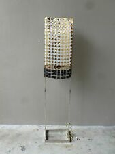 RARE PAUL MAYEN FOR HABITAT CHROME FLOOR LAMP W PACO RABANNE METAL SHADE COVER P