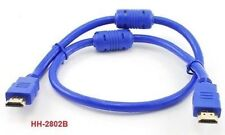 2 ft. HDMI Cable 1.3b CL2 w/ Ferrite Cores Cable, Blue