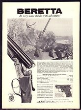 1962 BERETTA Shotgun Photo AD w/Duck Hunter