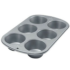 NEW Wilton 6 Cup Jumbo Large Muffin Cupcake Bake Cake Pan New Mold Non Stick
