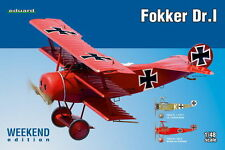 FOKKER Dr.I (RED BARON-RICHTHOFEN & KEMPF MKGS) 1/48 EDUARD WEEKEND EDITION