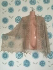 Super soft baby alpaca/silk blend lace shawl / scarf col: Beige