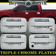 2004-2014 FORD F-150 F150 4dr Chrome Door Handle Covers With Psgr WithOut Keypad