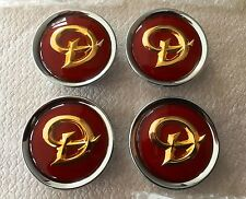 GENUINE JAGUAR DAIMLER ALLOY WHEEL CENTRE CAP BADGES NEW RUBY / GOLD MNA6249DB