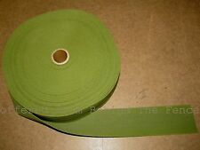"2"" Cotton Webbing OD Olive Drab Camo Green Military 100' Roll USA Lea Sachs INC"