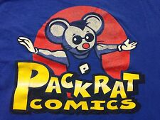Used Packrat Comics Super Hero Monster Medium T Shirt 2-sided Marvel Dc Cartoon