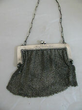 ANTIQUE STERLING SILVER MESH PURSE by JOHN WANAMAKER