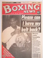 Boxing News 24 June 1994 Lewis Bowe McCullough Robbie Regan Mickey Cantwell