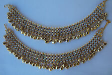 ETHNIC INDIAN BOLLYWOOD BANJARA FASHION BRIDAL JEWELRY ANKLET GHUNGROO PAYAL