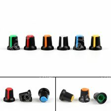 12x Potentiometer Switch Knob Cap Plastic Knobs 15*17*6mm Shaft 6Colores