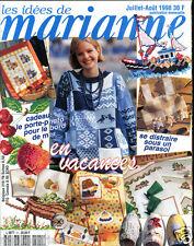 ❤ Couture , Tricot , broderie ❤  LES IDÉES DE MARIANNE Juillet Août 1998 , A.39