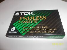 TDK endless 6 minute cassette tape new sealed