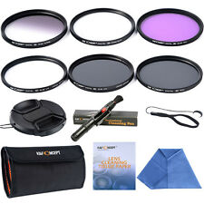 52mm Slim UV CPL ND4 Close-up +4 Graduated Colour Grey FLD Filter Kit Lens Cap