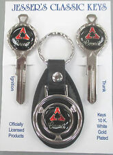 Dodge CORONET Deluxe Classic White Gold Key Set 1966 1967 1968 1969