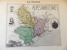LA FRANCE ET SES COLONIES DEPARTEMENT DES ALPES MARITIMES VOIR DESCRIPTIF