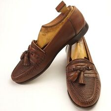 Nordstrom Woven Leather Kappa Tassel Moc Toe Moccasin Loafers 8 1/2 Wide