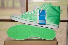 Women Adidas Honey Mid Green White Sz 10.5 Sneakers Shoes