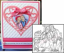 Stamping Bella Rubber Stamps YOUNG LOVE cling stamp MO128