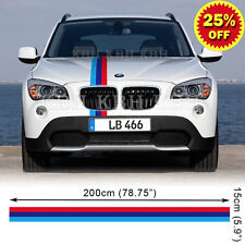 M Performance 3 Colors Hood Stripe Decal Sticker for BMW X1 X3 E83 E84 F25 SUV