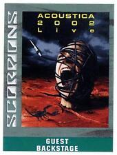 Scorpions - Acoustica 2002 Live - Konzert-Satin-Pass Guest Backstage - f.Sammler