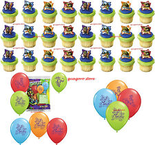 NINJA TURTLE 30pc CupCake Rings, Balloons Party Supply Bag Fillers Favors Prizes