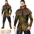 Robin Hood of Nottingham Mens Fancy Dress Medieval Book Day Week Adults Costume