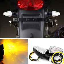 2x Amber 12V 15 LED Short Stalk Turn Signal Light Indicator For Most Motorcycle