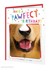 Brainbox Candy Birthday Greetings Card & Face Mat funny novelty cheeky kids fun