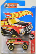 HOT WHEELS 2016 HW RESCUE #3/10 CHEVY BLAZER 4X4 RED
