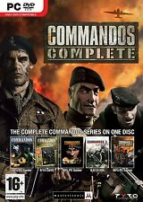 "Commandos Complete PC DVD ""Brand New and Factory Sealed"""