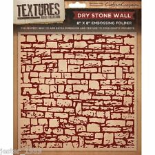 Crafters Companion Textures - 8x8 Embossing Folder - DRY STONE WALL -  EF5-DRYW