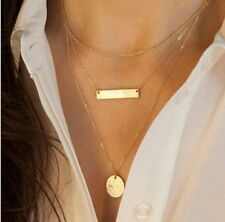 New Women Pendant Gold Chain Choker Chunky Statement Bib Necklace Jewelry Charm