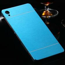 Sony Xperia Z1 Blue Brush Aluminum Metal Hard Case Skin Cover