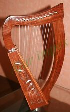 12 String Celtic Harp - Rosewood Irish Engraved Harp + Bag / Harp 12 Strings//