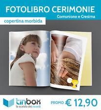 FOTOALBUM FOTOLIBRO COMUNIONE e CRESIMA f.to A4 - Cop. morbida FOTOLIBRI TINBOX