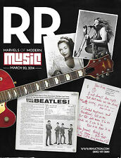 RR AUCTION Marvels of Modern Music 3/20/2014 – Beatles Jim Morrison Led Zeppelin