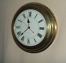 """Gold Toned Howard Miller Metal Wall Clock, 15-3/4"""" diameter"""