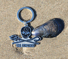 Metal Enamel Keyring Sea Shepherd  jolly Roger