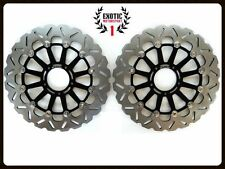 Front Brake Disc Rotors Set For Ducati Panigale 1199  Wave Rotors